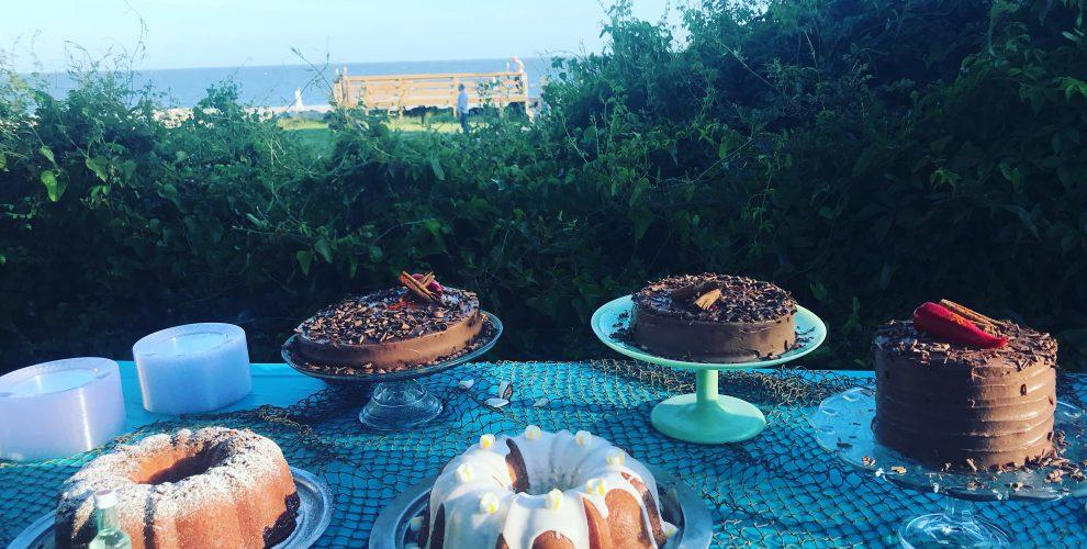 Cake Buffet for Mumbi  and Bucky by Anna Cox and Jodi Rhoden, St. Simons Island, GA